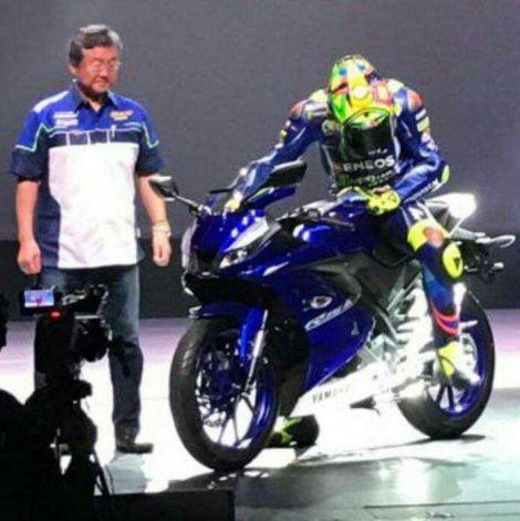 Valentino Rossi kenalkan R15 MY 2017 di hadapan mesin marketing Yamaha